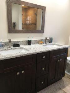 Master Bathroom Double Sink Vanity.