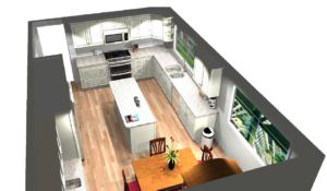 3D Kitchen design.